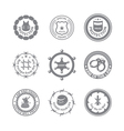Set of protection badges and labels vector image