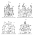 Sketch for medieval castles and fortress vector image