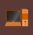 technology gadget in flat design computer vector image