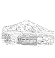 The House in the Mountains vector image