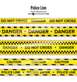 yellow with black police line do not cross vector image