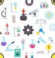 Science pattern stickers vector image
