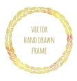 Hand drawn wreath set made in Leaves vector image vector image