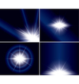 Abstract backgrounds with flash for design - set vector image