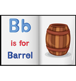 A picture of a barrel in a book vector image