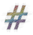 Hand drawn symbol vector image vector image