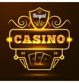 Casino Neon Sign vector image