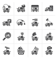 Black Car and road services icons vector image