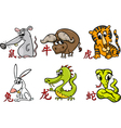 chinese zodiac horoscope signs vector image