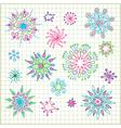 Hand draw doodle star element set vector image