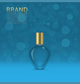 perfume in a glass bottle vector image
