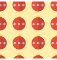 Red Christmas balls seamless pattern background vector image