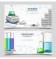 Science Lab Equipment Banners vector image