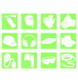 set of icons personal protection equipment vector image