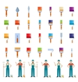 Set of painter icons vector image