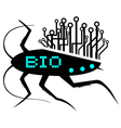 Bio insect icon vector image
