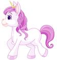 Cute horse princess walking vector image vector image