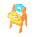 icon baby chair vector image
