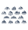 mountain tourism and sport icons set vector image vector image