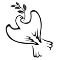 dove stylized vector image