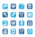 Chat Application and communication Icons vector image vector image