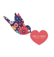 colorful bouquet flowers birds holding vector image