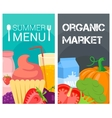 Organic food bright banners vector image vector image