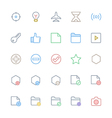 User Interface Colored Line Icons 4 vector image