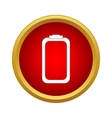 Battery icon simple style vector image