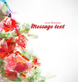 Abstract Red Floral Background vector image