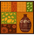 african abstract pattern with a vase vector image
