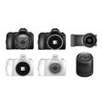 dslr camera set vector image