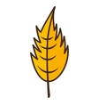 leaf autumn isolated icon vector image