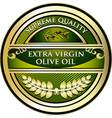 olive oil gold label vector image