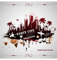 Summer beach concept downtown party city vector image