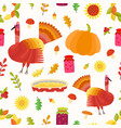 thanksgiving seamless pattern repeating vector image