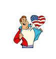 usa patriot man isolated on white background vector image