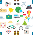 Travel pattern stickers vector image vector image