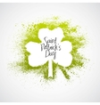 St Patrick Day grunge frame vector image vector image
