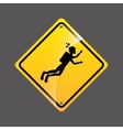 diving person sign sport extreme design vector image