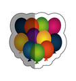 party balloons air celebration vector image