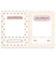 Invitations templates vector image vector image