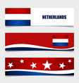 Netherlands Flags concept design vector image vector image