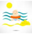 Beach child vector image vector image