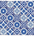 Samless pattern Moroccan Portuguese tiles vector image
