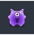 Purple Alien With Horns vector image