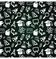 Seamless pattern with education icons vector image
