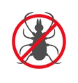 Tick insect silhouette Mite deer big ticks icon vector image vector image