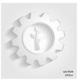 green industrial symbol vector image