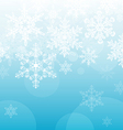 Light Blue Snowflake Background vector image